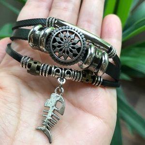 Jewelry - 5/$25 🐟 Leather Wrap Multilayer Bracelet